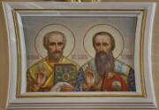 Иоанн Златоуст и Василий Великий, роспись на столпе трапезной церкви Алексия, митрополита Московского, что в Рогожской слободе в Москве.