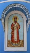 Обновленный мозаичный храмовый образ на апсиде церкви Иоанна Златоуста в Новлянском (Воскресенск Московской области).