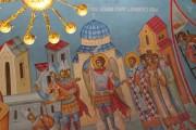 Архангел Михаил изгоняет воинов из храма по молитве Иоанна Златоуста, роспись Златоустовского придела церкви Рождества Пресвятой Богородицы, что на площади, в Калуге.