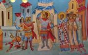 Архангел Михаил изгоняет воинов из храма по молитве Иоанна Златоуста, роспись Златоустовского придела церкви Рождества Пресвятой Богородицы в Калуге.