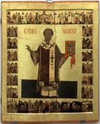 Икона Святитель Иоанн Златоуст в житии (сер. XVII в.) из собрания музея Ростовского кремля.